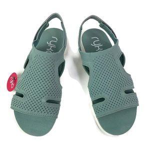 Ryka MICHA Green Soft Stretch Sport Sandal GUC